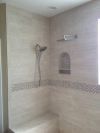 Two headed shower remodel.