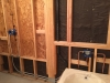 Behind the wall of a tub/shower remodel.