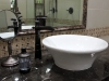 Vessel Bowl with Oil Rubbed Bronze faucet.  Old World Style.