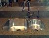 Oil Rubbed Bronze high arc faucet.